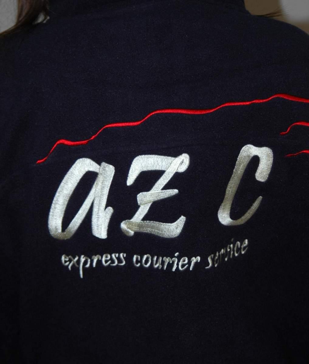 0ed2a40d807b Fleecové vesty s výšivkou AZ C Express Courier Service