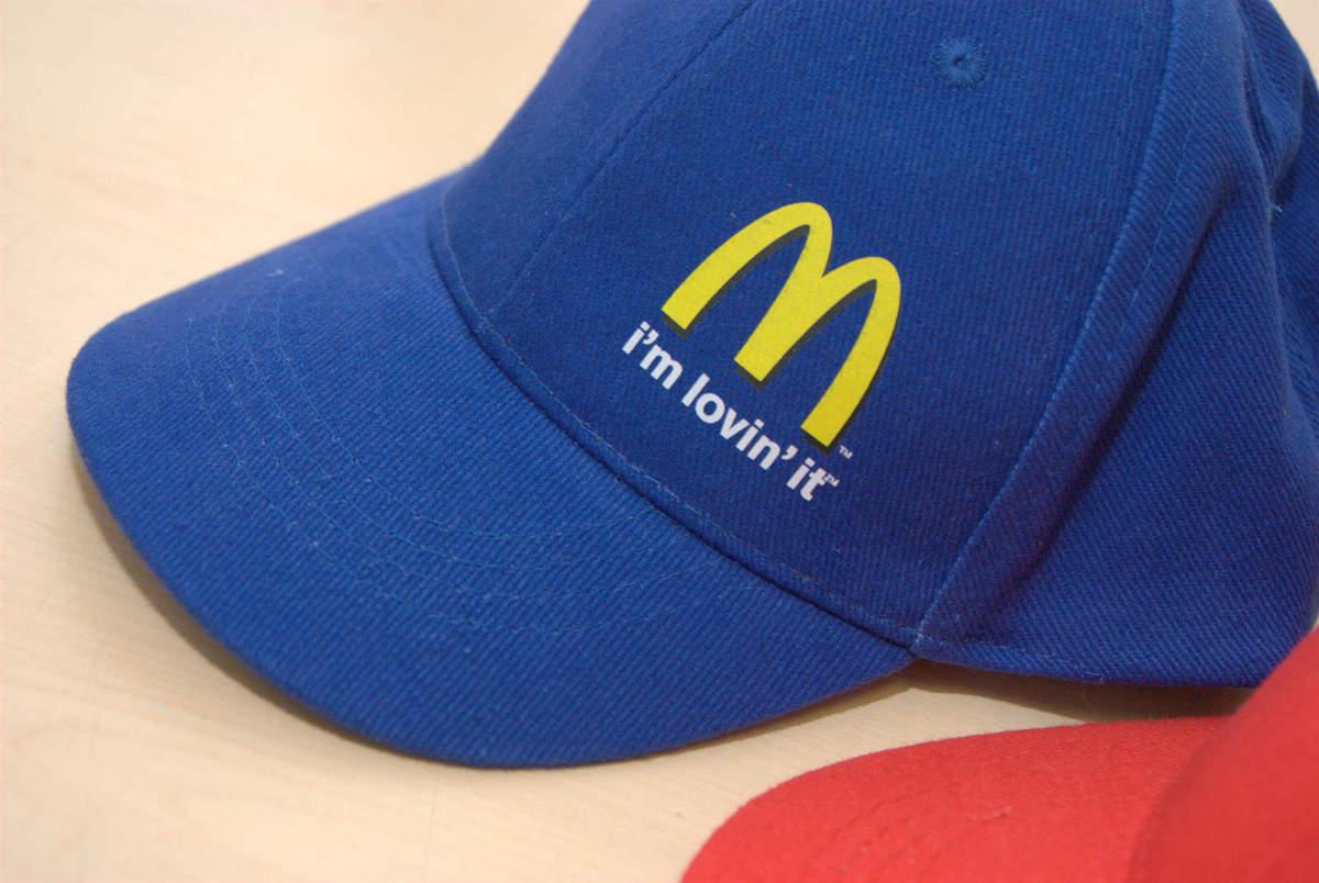 Šesťpanelové šiltovky s farebnou potlačou McDonald  a438ca6900