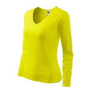 1db8a8189a5b Lacné žlté bavlnené tričká s dlhým rukávom