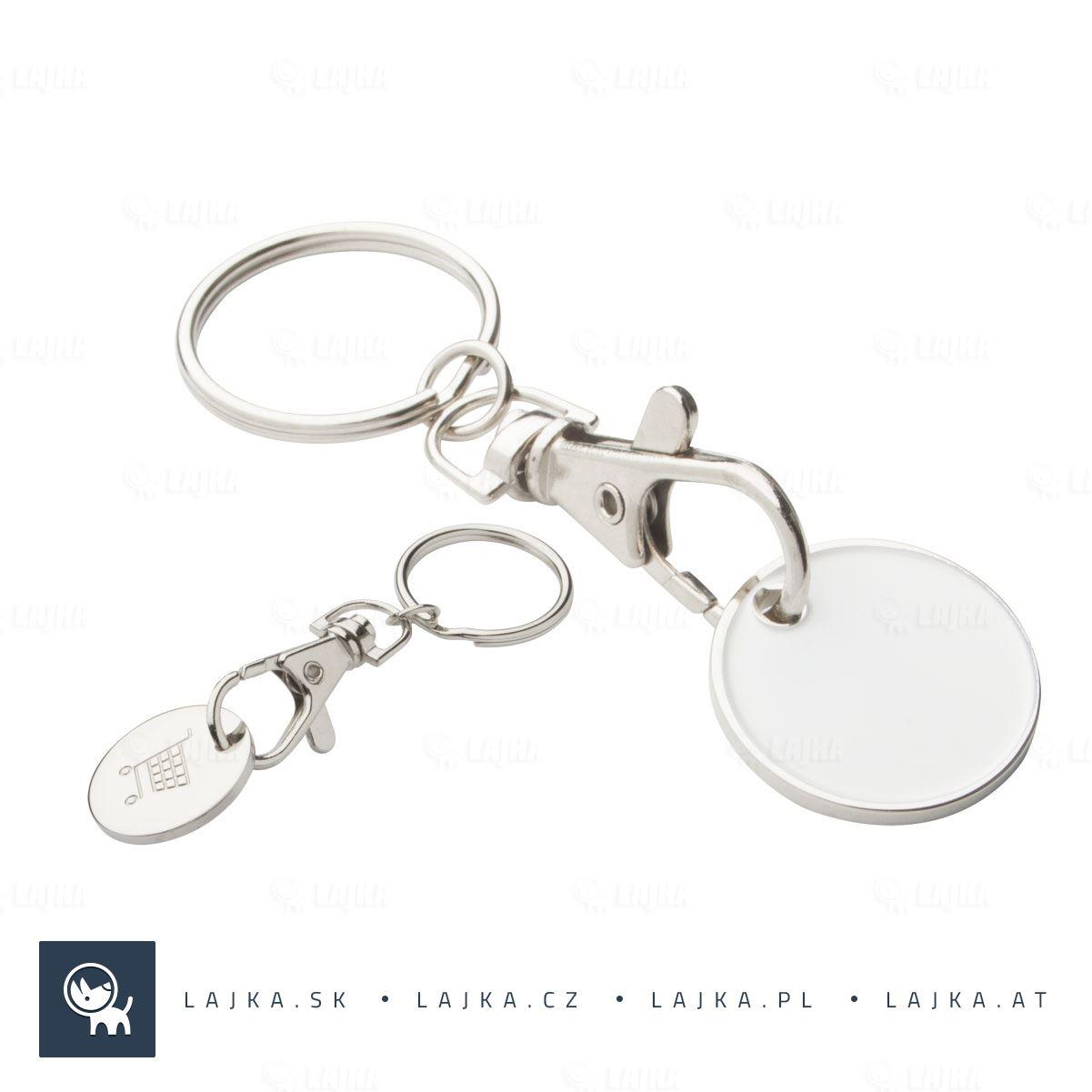 a8dc01316 Prívesok na kľúče Euromarket, biela | LAJKA®